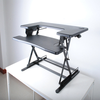 Ergonomic Dual Laptop Stand-Up Desktop Monitor Stand Computer Desk For Healthy Working