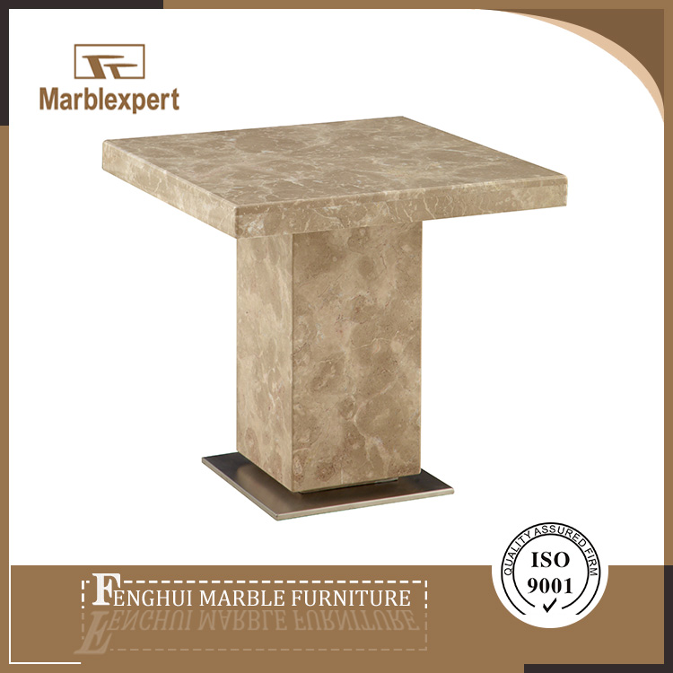 Contemporary travertine marble console table for restaurant