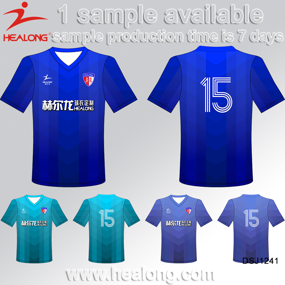 Healong Jersey Football Soccer Custom Football Jersey New Model Football Shirt Maker Soccer Jersey