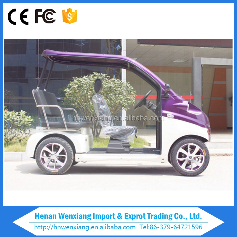 Smart 4 Wheels 3 Seats Mini Electric Golf Carts without the door
