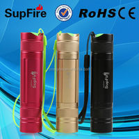 rechargeable 3w 220lm colorful mini flashlight lumen police cree led flashligh with CE