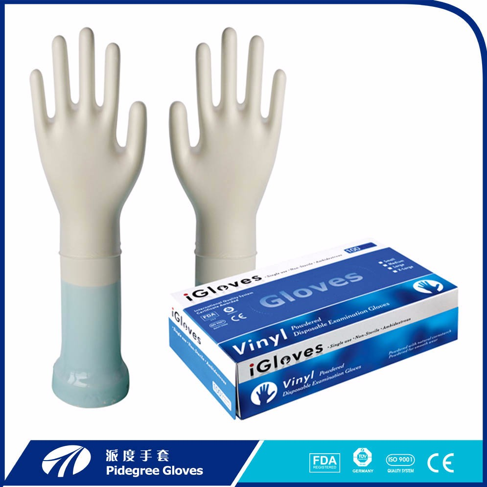 Hairdressing disposable PVC glove