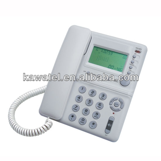 Corded basic funtion telephone for communication