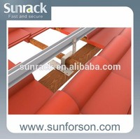 Pitched tile roof mounting for solar panel tile roof mounting, solar energy