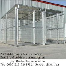 2013 fashion steel structure portable kennels for dog play outdoor
