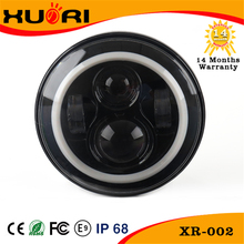 Wholesale J eep 4x4 accessories, 7 Inch Car LED Projector Headlight DOT Approved Round Head Light with Halo ring for JK