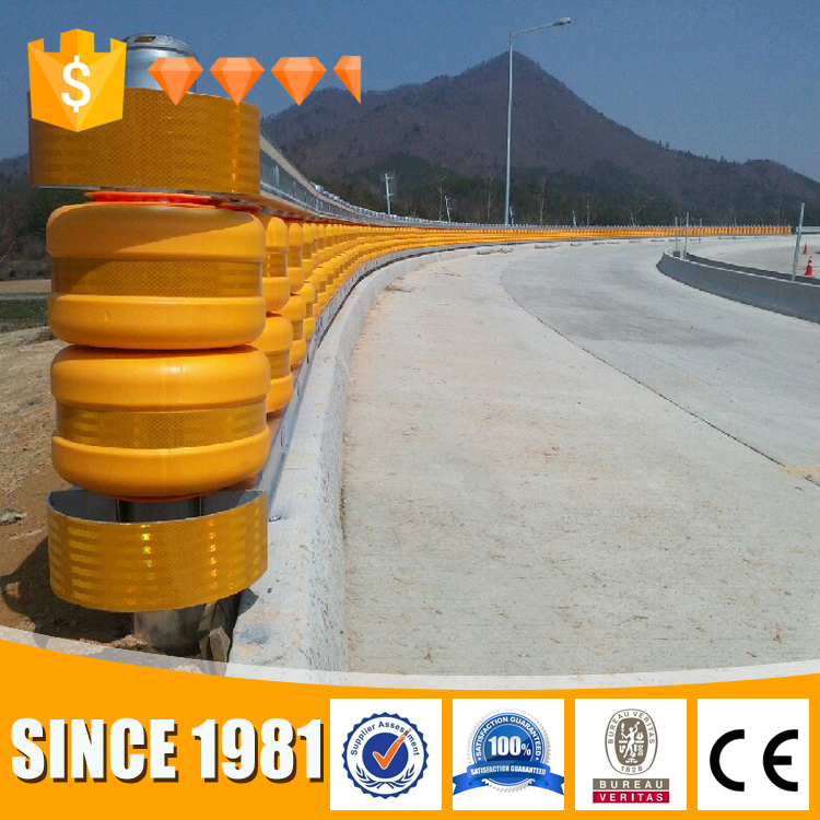 Golden Crown highway road safety rolling barrier guardrail