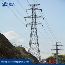 11kv 132kv electric steel High quality galvanized self supporting Types Transmission Line Towers
