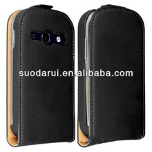 Leather Flip Case for Samsung Galaxy Fame S6810 Ultra Slim Cover