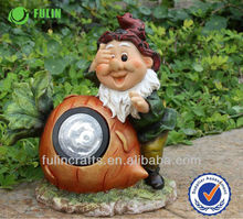Decoration Polyresin Solar Light Garden Solar Power Gnome