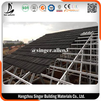 Environment Friendly Roof tile Factory offer best quality Alu zink roof tile