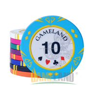 14g Two Tone Diamond Clay Poker chip