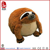 Yangzhou promotional plush round toy ball soft animal toy plush sloth toys
