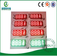 Hidly outdoor high brightness 8 inch red/green 8.889 format 4 products led digit 7 segment number sign