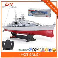 Hot sale 4CH battery operated plastic battle ship toy for sale