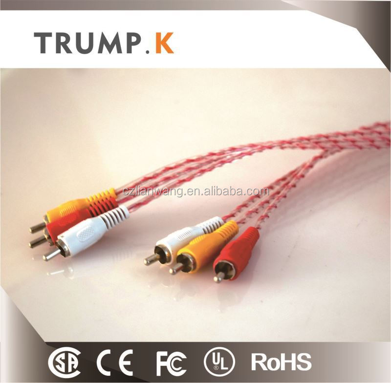 High Quality RCA Jumper Cable/Audio Cable/3 RCA To 3 RCA From China