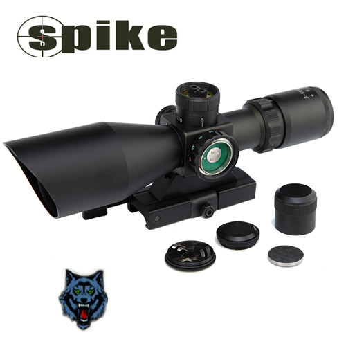 SPIKE 3-9X40 Quick Detach Optic Rifle Scope/Dual illumination Riflescopes Hunting