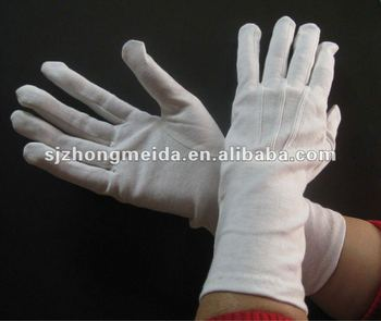 white long waiter's gloves