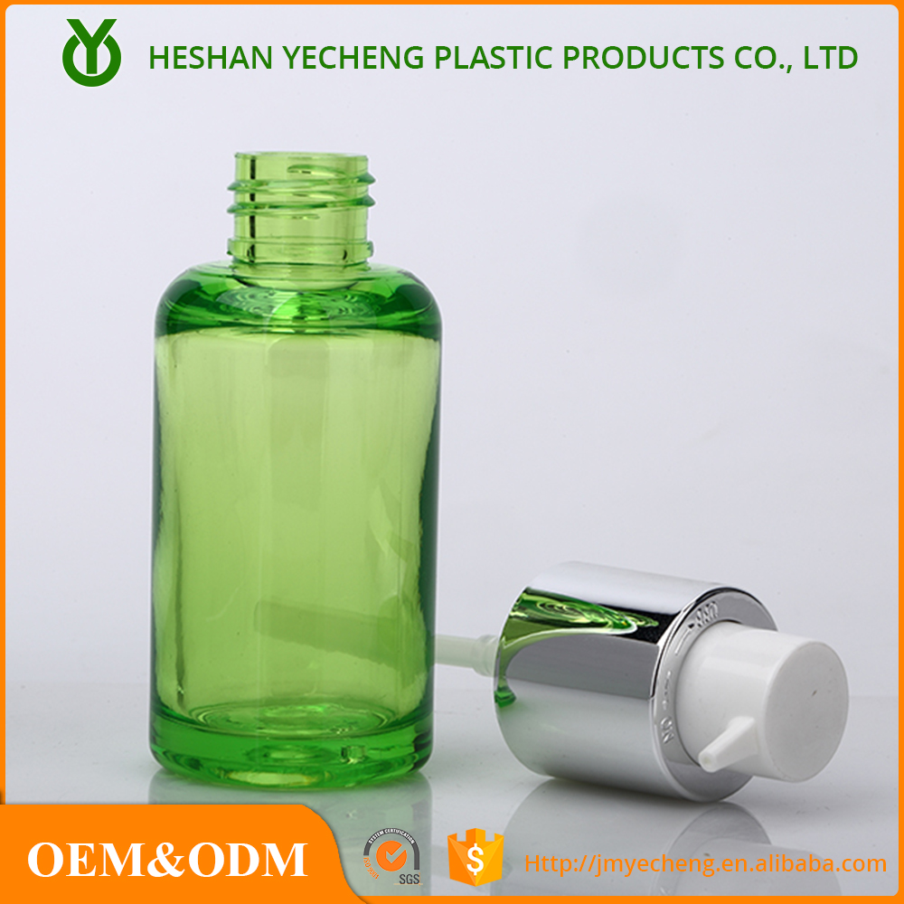 Wholesale green color acrylic lotion bottle cosmetic for packaging