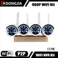 Easy use Plug and Play 960P Wireless WiFI NVR Kit home security camera system