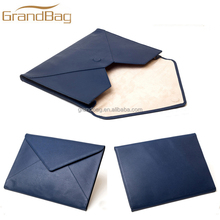 classic design genuine leather executive folder portfolio PU leather A4 document holder envelope document folder