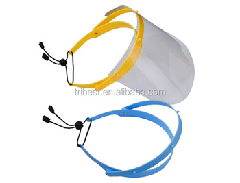 Face shield/face mask with shield elastic rope