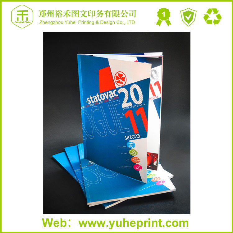OEM professional cheap price custom free design shoes advertising catalogue printing for garment brochure design