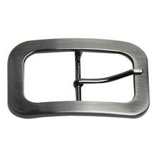 Square Single Prong Nickel Center Bar Pin Italian Belt Buckle