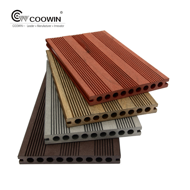 Free sample outdoor recycled plastic panel wood floor board real teak decking patio solid coowin wpc flooring (ce)