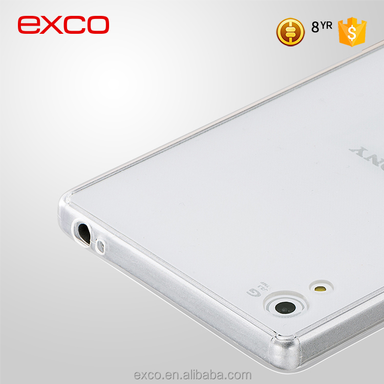 Factory in Guangzhou EXCO ultrathin blank clear new smart back mobile phone case cover for Sony Z5