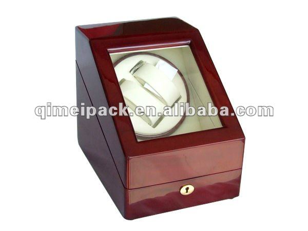 2016New design christmas watch gift cheap wooden watch winder motor gift packaging