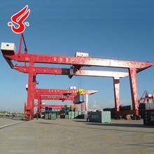 Double Girder RMG 35 Ton Mobile Container Used Gantry Crane For Sale