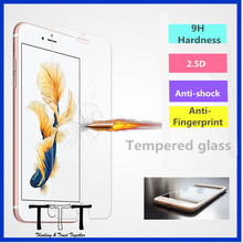 Hight quality 0.33mm 2.5D ultra thin 4.7inch mobile phone 9H tempere glass screen protector for iphone 6/6s /6s plus
