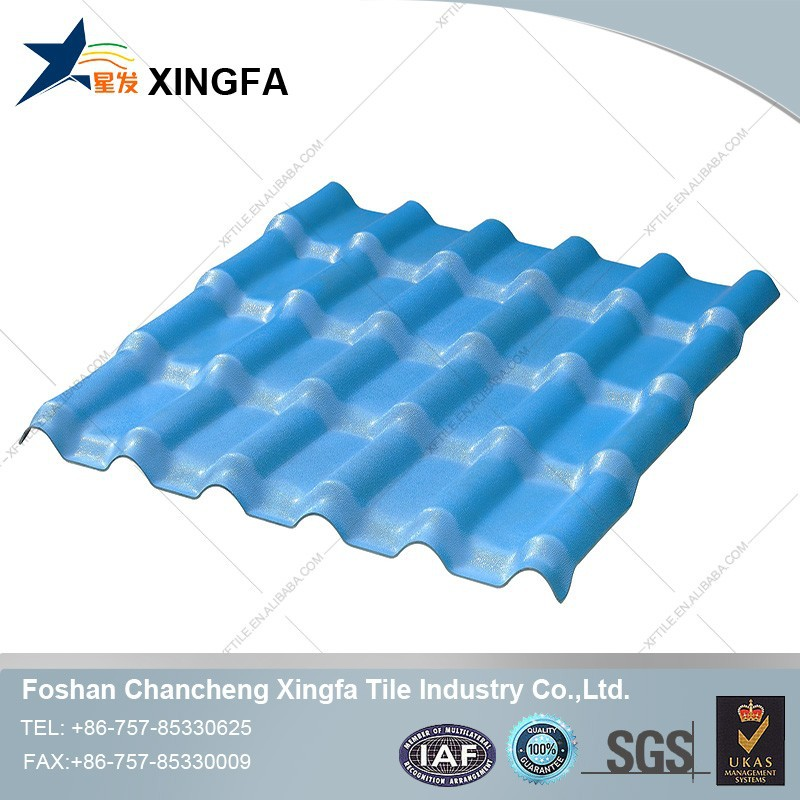 ocean blue color roof sheets/clear plastic roofing sheet/hard plastic roofing sheet