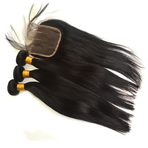 "new hair styles all lengths 8""-30"" brazillian straight hair with closure"