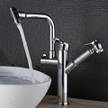 FLG supplier hot sale widespread contemporary bathroom double handle faucet