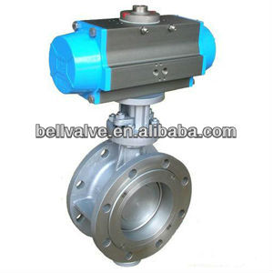 China Manufacturer sanitary Pneumatic Butterfly Valve with Positioner