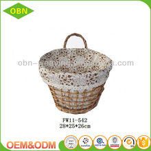 Custom willow wicker hanging flower basket for home decoration