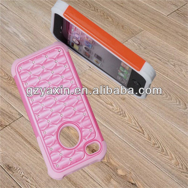 new style for iphone 4/4s/4g silicone diamond cell phone case