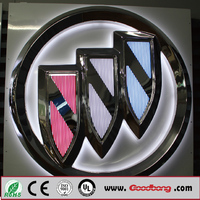 Badge & Emblem Product Type Chrome Aluminum 3d car emblem