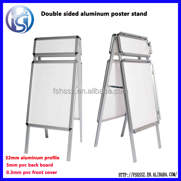 Customized aluminum advertising frame pavement sign poster stand H5