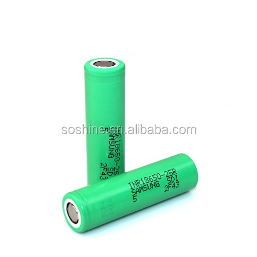 battery for Samsung INR18650-25R 2500mAh rechargeable 18650 battery cells for power tools, ecig mods, power packs, ebike
