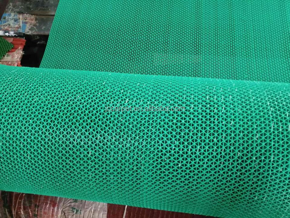 Colorful PVC door mat PVC S mat,Swimming pool carpet, PVC mesh mat