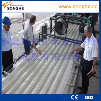 High Quality GFRP roofing sheet production line