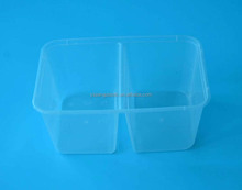Microwavable take away disposable FDA approved food packaging boxes with divider