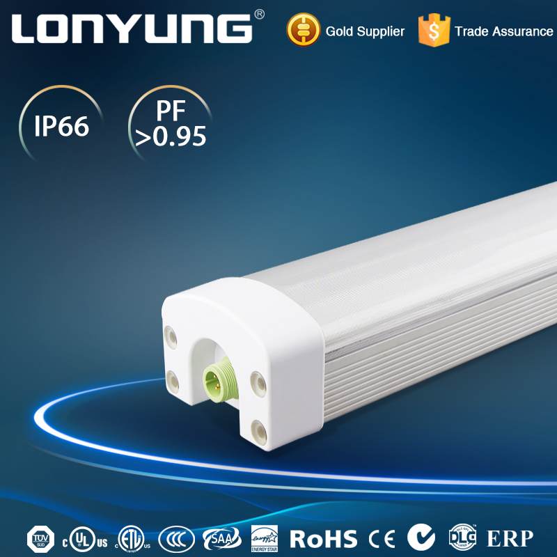 Explosion proof lighting Tunnel aluminum plastic waterproof fluorescent light fixture