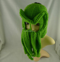 Hot sell Hand Knitted Crochet Cthulhu Ski Mask ski hat with Tentacles, Crochet Octopus Hat