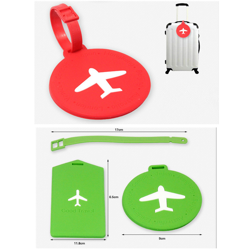 Bag Parts & Accessories Luggage Tags Custom Silicone Luggage Tags
