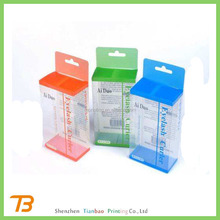 Fancy Clear soft PVC cosmetic small clear printed plastic boxes