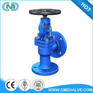 Carbon steel Rising stem BB Hand wheel GS-C25 Angle Globe Valve with price